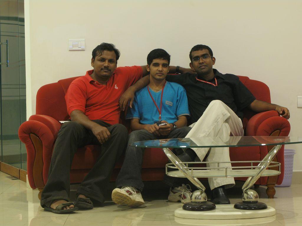 @Office - With Saif and Pradeep
