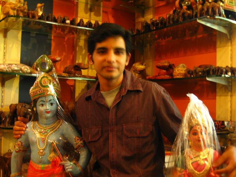 with krishnan and radha