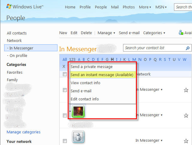 Integrated IM in Hotmail, Yahoo and Gmail