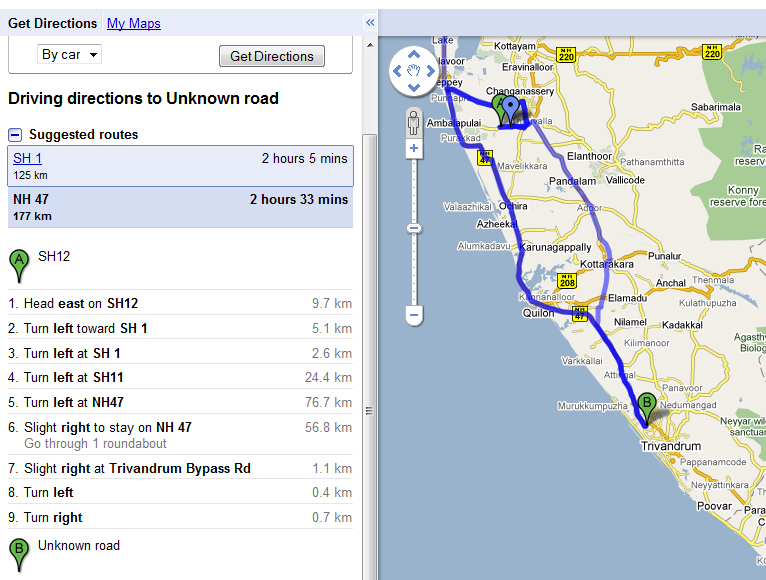 Using Google Maps to plan your journey | bugs of a de on