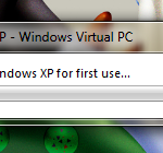 Setting XP Virtual machine