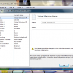 Virtual PC settings