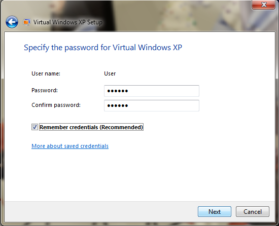 add xp mode applications to windows 7