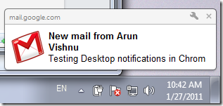 Desktop notifications in Chrome